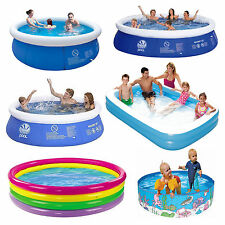 Summer Inflatable Paddling Pool Garden Outdoor Family Fun Swimming Pool Large