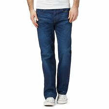 G-Star Raw Mens Blue Mid Wash Whiskered '3301' Loose Jeans From Debenhams