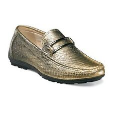 Stacy Adams Lazar Mens Dancing shoes crocodile print slip-on Gold 25081-710 New