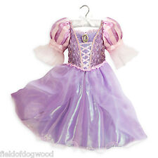 NWT Disney Store Rapunzel Costume Dress Tangled Princess Gown 7/8 9/10