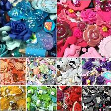 20 pcs Mixed Flatback Resin/Clay Cabochons for Decoden & Crafts - Choose Colour