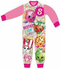 SHOPKINS GIRLS ONESIE CHARACTER FLEECE ALL IN ONE SLEEPSUIT GIRLS PYJAMAS 4-5yrs