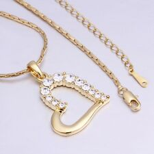 New Women 18K Gold Plated Love Heart Cute Pendant Necklace Charm Chain Jewelry