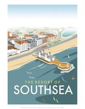 Resort of Southsea - Dave Thompson Contemporary Travel Print Art Print by