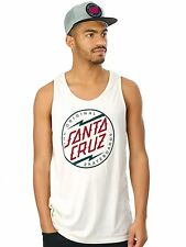 Santa Cruz Vintage White Bolt Dot Colour Tank Top