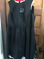 NWT ASOS CURVE Women's fit and flare black Plus Size Skater Dress - size US 20