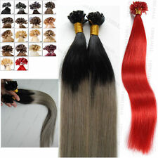 "16-26""Double Drawn Nail U Tip Pre-Bonded Keratin Glue Remy Human Hair Extensions"