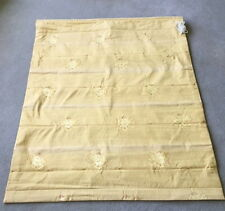 """ADesigner gold floral silk Roman Blind Lined Interlined 45""""wx50 drop+Metal Track"""