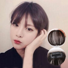 Thin Neat Air Bang/Fringe Clip In 100% Human Hair Extension hand tie