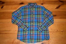 Polo Ralph Lauren Plaid Twill Sport Shirt Long-Sleeve button-down sz. M