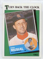 STAN MUSIAL   CARDINALS-1988  TOPPS TURN BACK THE CLOCK-#665