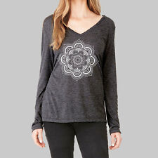Womens Long Sleeve Tops - T Shirt, V Neck Shirts, Mandala Tee, Bella Flowy
