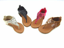 NEW YOUTH KID'S GIRL'S Rhinestones Gladiator FLIP FLOP Sandals Shoes size: 10-4