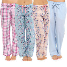 Womens Ladies Woven Lounge Pants Lightweight Pyjama Bottoms Trouser Nightwear PJ