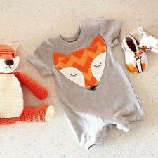 Newborn Baby Boys Girls Fox Romper Bodysuit Outfits Clothes One-pieces 0-24M