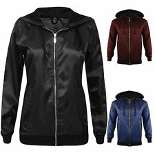 New Womens Lightweight Bomber Jacket Rain Coat Festival Anorak Top