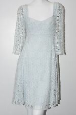 $2995 New DOLCE & GABBANA Light PALE POWDER  BLUE  CLASSIC LACE Dress 44
