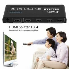 4K X 2K HDMI Splitter 1 X 4 4 Port HDMI Hub Repeater Amplifier 3D 1 In 4 Out SY