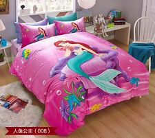 *** Pink Mermaid Single Bed Quilt Cover Set - Flat or Fitted Sheet ***