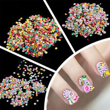 1000pcs 3D Nail Art Tips Fimo Animal/Fruit/Flower Slice Clay Sticker Decor DIY