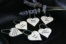 LITTLE HEART SIGN & GIFT TAG-*YOUR OWN TEXT*-PERSONALISED*BIRTHDAY*WEDDING*Mum