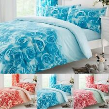 Luxury ROSETTES Duvet Quilt Cover Bedding Set with Pillowcases – All sizes