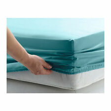 Luxury Non-Iron Polycotton Plain Percale FITTED SHEET 25CM ( 9 INCHES ) DEEP