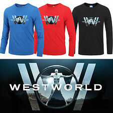West World Long Sleeve Tee Shirt Cloth Cotton Black Blue Red Unisex Cool (S-2XL)