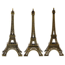 Alloy Bronze Tone Paris Eiffel Tower Statue Vintage Figurine Home Decoration