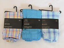LOT OF 3 NEW WITH TAGS PAIRS OF MEN'S BANANA REPUBLIC BOXER SHORTS, SIZE MEDIUM