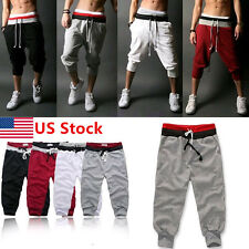 Men's Casual Shorts Baggy Sport Jogger Pants Cool Cropped Trousers Sweatpants US
