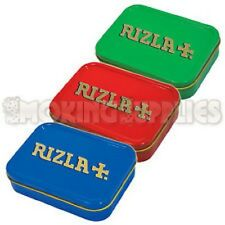 CHEAPEST NEW  2oz Metal Rizla Storage Smoking Cigarette Tobacco Tin