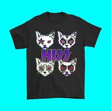 Hiss Rock Band Funny Cat Kitty Kitten Music T Shirt