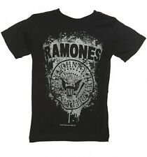 Official Kids Black Ramones Faded Logo T-Shirt from Amplified Kids