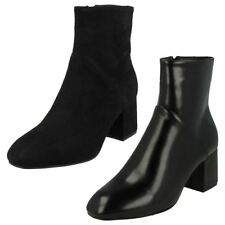 Ladies Spot On High Ankle Boots F50572