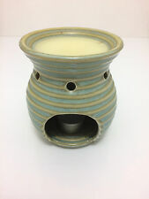 Yankee Candle Tart Warmer Tea Light Holder Beehive Shaped Ribbed Green