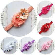 Flower Rhinestone Headband Elastic Hairband For Baby Girls Kid Hair Accessories