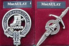 MacAulay Scottish Clan Crest Badge or Kilt Pin Ships free in US