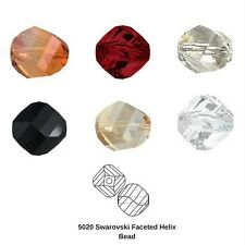 Swarovski Crystal Beads 5020 8MM Faceted Helix Bead 12 Pieces (7 Colours)