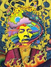"""Psychedelic Trippy Art Fabric poster 17"""" x 13"""" Decor 46"""