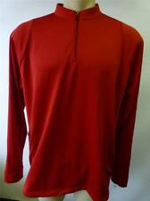 mens ADIDAS Climalite red 1/2 zip long sleeve micro golf athletic shirt sz Large