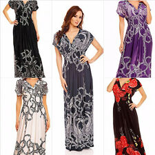 Summer Beach Casual Holiday Long Maxi Dress for Women Party Boho Size 8 - 24