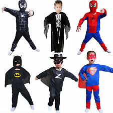 Fancy Superhero Casual Child Kids Boys Halloween Outfits Clothes Party Costume