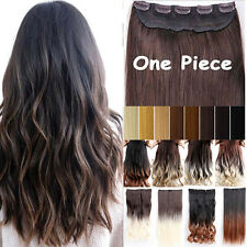 """One Piece Clip in Hair Extension Dip Dye Basic Hairpiece Thick Long 17""""-30"""" ct2"""