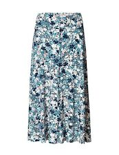 Marks & Spencer Classic Blue & Lilac Print Stretchy Flippy A Line Pull On Skirt