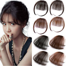 3g Thin Neat Air Bangs Human Hair Extension Clip In  Fringe Front Hairpiece