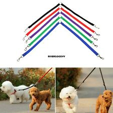 New Nylon Strong Double Dog Lead Leash Couple Pet Collar Leash for Collar VGY01