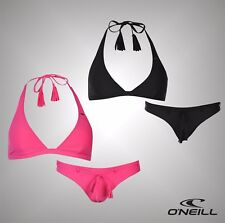 Ladies Branded ONeill Plain Solid Halter Neck Bikini Set Swimwear Size 34B-38C