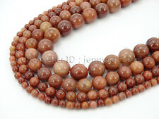 Natural African Blood Jasper Gemstone Round Beads 15.5'' 4mm 6mm 8mm 10mm