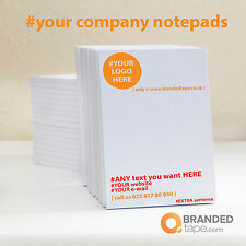 Personalised Custom Printed Notepads, Desk Pads with company logo & text A6 size